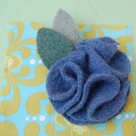 Felted wool flower corsage