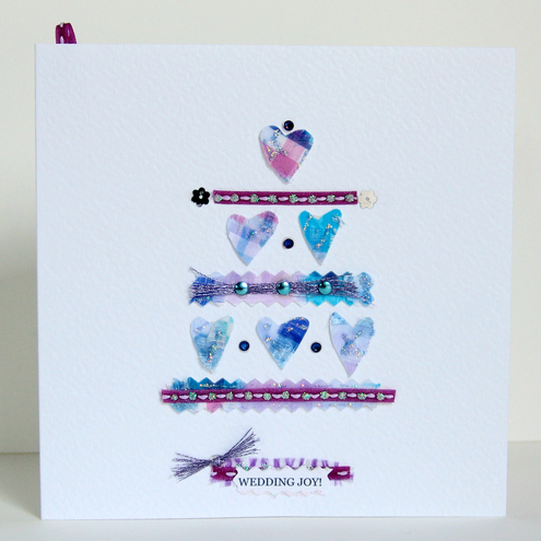 Greeting Card, 'Wedding Buttons & Bows', can be personalised