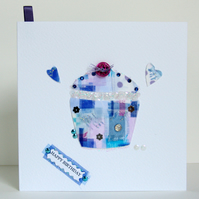 Greeting Card, 'Cake Buttons & Bows' can be personalised