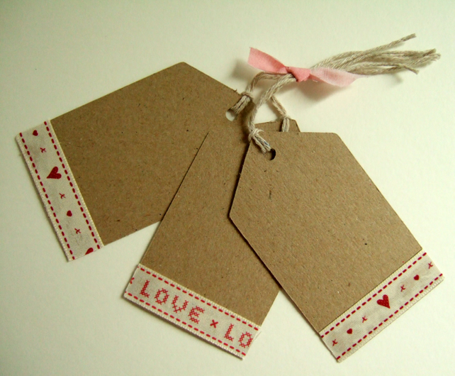 Gift Tags Set of Three,Homestyle Handmade Gift Tags