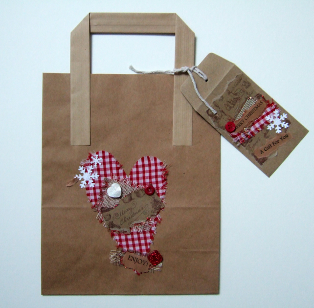 Christmas Gift Bag with Gift Envelope,Name Tag,Can Be Personalised