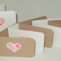 Embellished Heart Notecard Set with Box, Pk of 10 Handmade Notecards