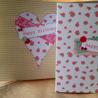 Birthday Cards 3pack,'Stitched Thoughts',Digital Designs, Printed, Hand Finished