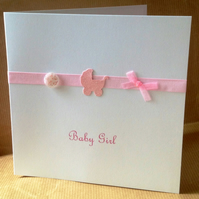 New Baby Boy or Girl Greeting Card - Handmade Card
