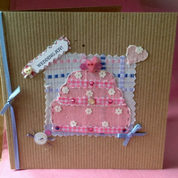 Greeting Card, 'Pretty Patch Wedding' Handmade Card