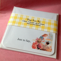 Notecards Set of Four 'Days Gone By'