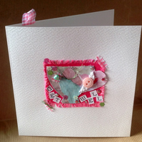 Greeting Card, 'Pretty Patch Get Well', Handmade Card