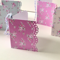 Gift Tags Set of Eight,Shabby Chic Style, Handmade Gift Tags