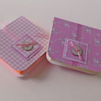 Mini Notebooks Set of Two,Handmade Notebooks