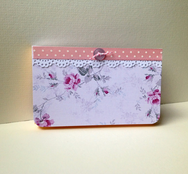 Vintage Floral Design Notebook, Sticky Notes Pages,Handmade Notebook