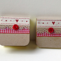 Mini Notebooks Set of Two, Handmade Notebooks