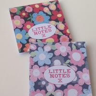 Notebooks Set of Two,In A Bright Floral Print,Handmade Notebooks