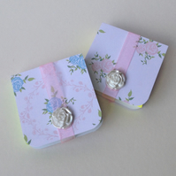 Mini Notebooks Set of Two Handmade Notebooks