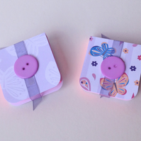Mini Notebooks, Set of Two Handmade Notebooks