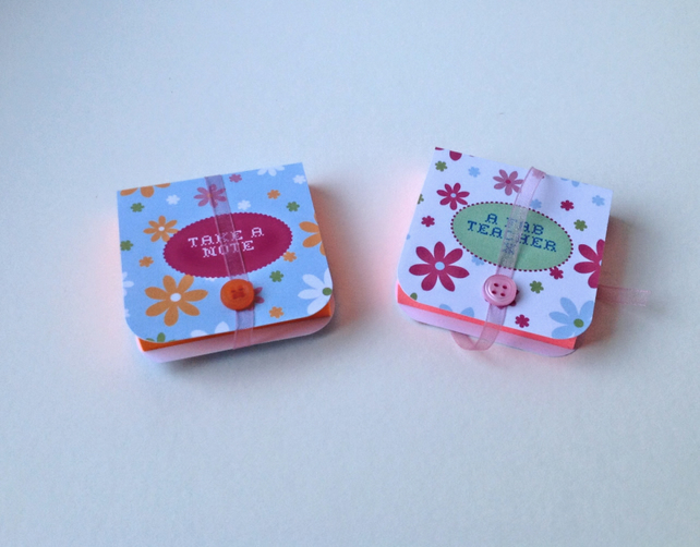 Mini Notebooks Set of Two Handmade Notebooks,Can be Customised or Personalised