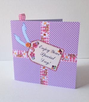 Birthday Card,Greeting Card,Can Be Personalised,HandFinished Card.