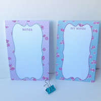 Notebook,MemeoCards,'JottDown' Style,Handmade Stationery