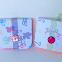Mini Notebooks Set of Two,Handmade Notebooks.