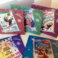 Christmas Cards, Classic Xmas Movies Theme,Five Pack, Handmade Cards