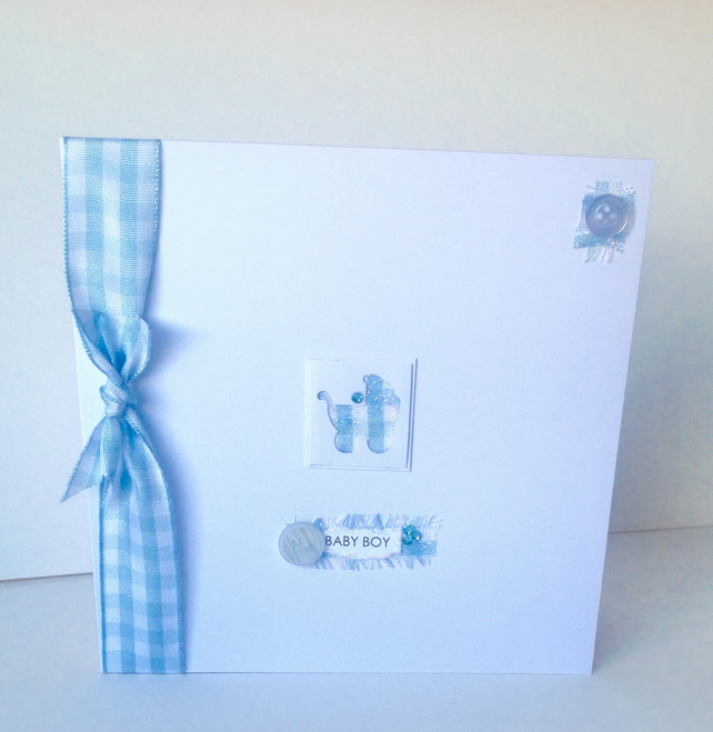 Greeting Card,New Baby Boy,Handmade Card,Can Be Personalised.