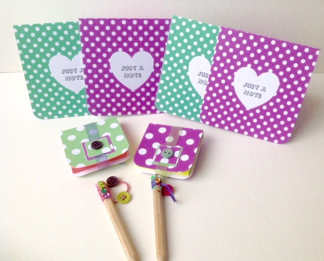 Stationery Set Gift Pk,Set of Notecards,Notebooks,Pencils,Handmade Stationery