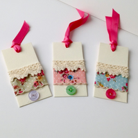 Gift Tags,Set of Six,Handmade Message Tags,
