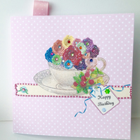 Birthday Card,Greeting Card, Can Be Personalised,Handmade