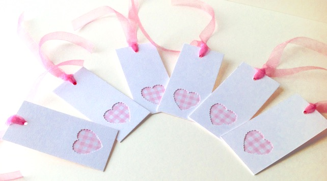 Pastel Gingham Gift Tags Set of Six
