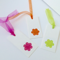 Gift Tags,Message Tags,Pack of Six,Blossom Shape Handmade Tags.