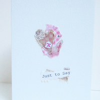 Collage Design Personalised Greeting Card,Open Greeting,Just To Say
