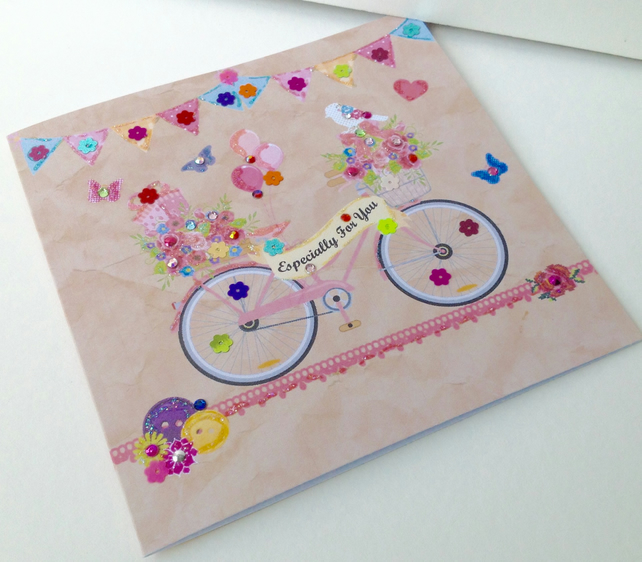 Birthday Card,Especially For You Greeting,Handmade Card,Can Be Personalised