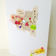 Teacher Thank You Card,Collage Design,Can be Personalised,Handmade Card