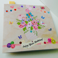 Birthday Card,Greeting Card,Can Be Personalised, Handmade