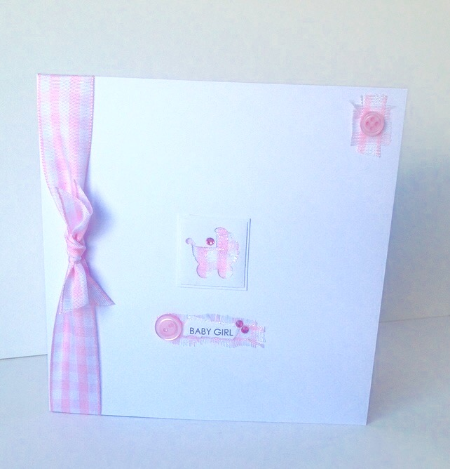 Greeting Card,New Baby Girl,Handmade Card Can Be Personalised