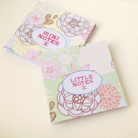 Notebook Set of Two in a Pastel Floral Print,Handmade Notebooks