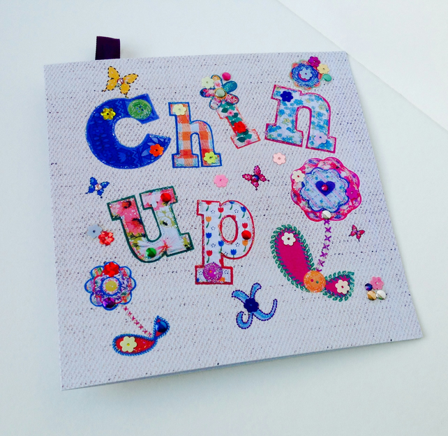 Greeting Card,Printed Appliqué Design,Handmade,Can Be Personalised,