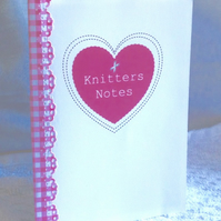 Notebook Handmade, 'Knitters Notes' Notebook