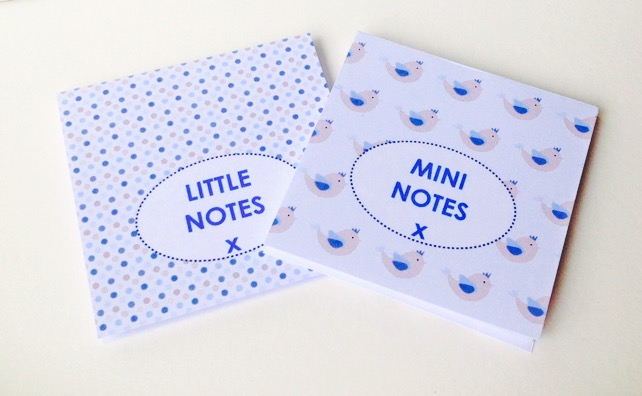 Notebooks Set of Two,In 'Blue Bird' Prints,Handmade Notebooks