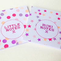 Notebooks Set of Two,In 'Spots & Stars' Print,Handmade Notebooks