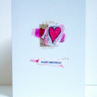 Collage Design, Personalised Greeting Card