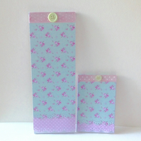 Shabby Chic Notebooks Set of Two,Handmade Decorated Notebooks