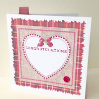 REDUCED-Greeting Card,Congratulations,Handmade Card,Can Be Personalised