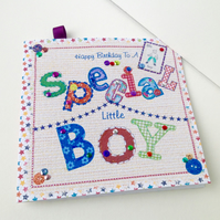 Birthday Card,Greeting Card,Special Little Boy,Handmade Card