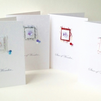 Christmas Cards,Pk of Four Collage Design,Handmade Xmas Card Pack