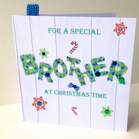 Christmas Card Family,Brother,Printed Design,Handmade,Can Be Personalised