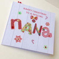 Christmas Card Family,Nana,Printed Design,Handmade,Can Be Personalised