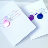 Christmas Card Pk of Five,Sequin Design,Individually Personalised,Cards