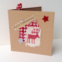 Christmas Cards,Collage Designs,PK of Six,Handmade Xmas Cards