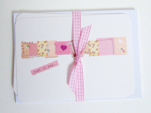 'Needlework' Blank Notecards,Pack of Six Handmade Cards