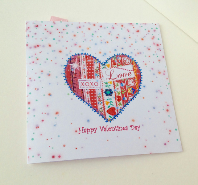 Valentine's Day Card,Handmade Valentine Card,Can Be Personalised